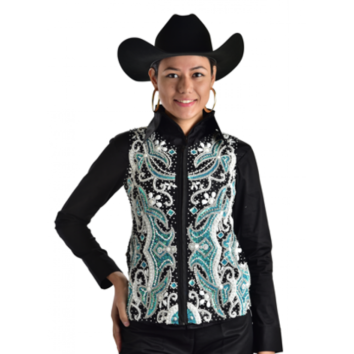Turquoise Dream Show Vest - Copper Bit Boutique