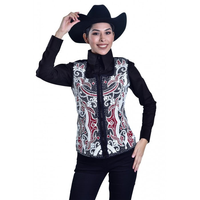 Royal Highness Embroidered Show Vest - Copper Bit Boutique
