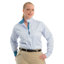 Load image into Gallery viewer, Royal Highness Equestrian Plus Size Coolmax Wrap Collar Shirt - Copper Bit Boutique