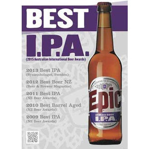 Epic Armageddon IPA amazing hat trick of trophy wins