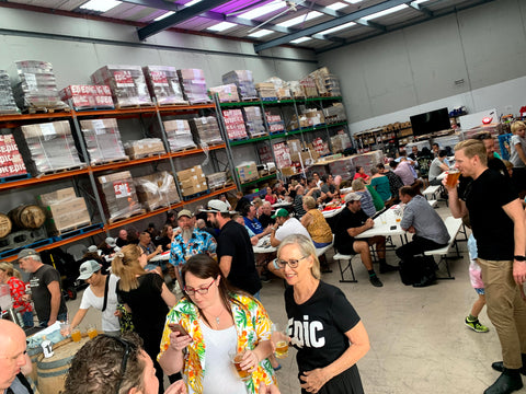 Epic Taproom is in an industrial warehouse in Onehunga