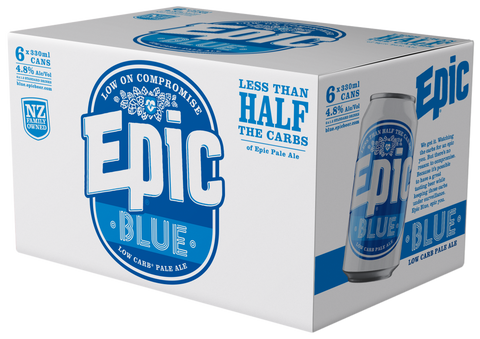 Epic BLUE - Low Carb Pale Ale - 6 x 330ml Six Pack