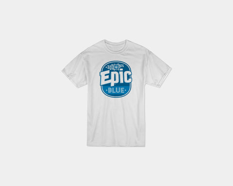 Blue T-Shirt White - PRESALE - Epic Beer