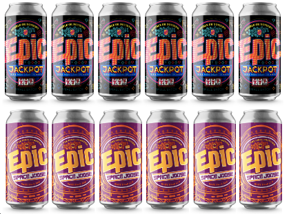 Epic's Jackpot and Space Joose 12 x 440ml pack - Epic Beer