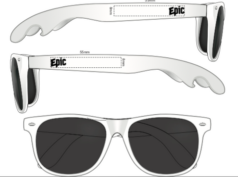 Epic Bottle Opener Sunglasses - White - Epic Beer