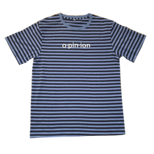 Load image into Gallery viewer, Black and Blue Striped T-Shirt