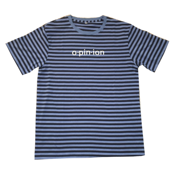 Black and Blue Striped Opinion T-Shirt | Opinion Clothing | Minneapolis Streetwear