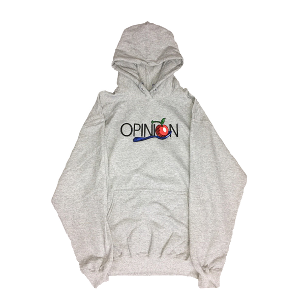 Gray Cherry and Spoon Hoodie - Opinion Clothing | Streetwear | Minneapolis, MN