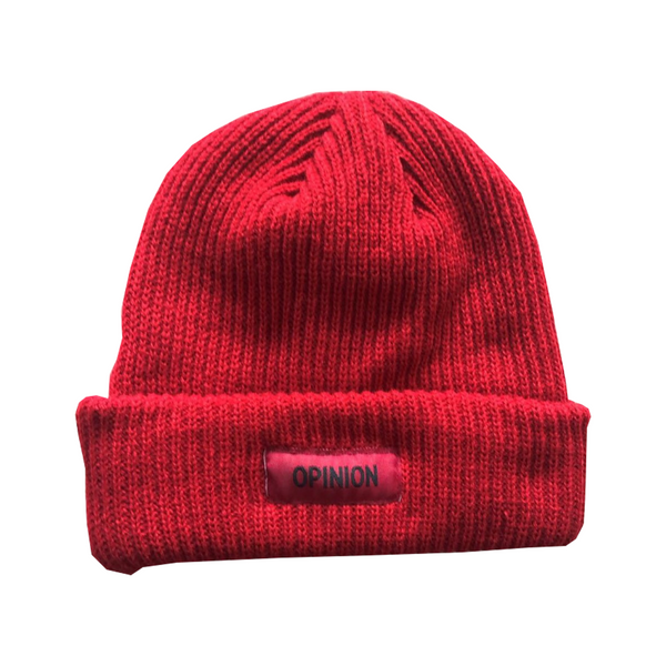 Opinion Red Color Rush Beanie | Opinion Clothing | Minneapolis Streetwear