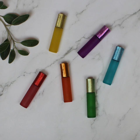 10 ml Coloured Roller Bottles (pk 6)
