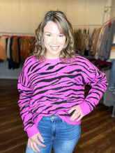 Load image into Gallery viewer, Zebra Print Sweater