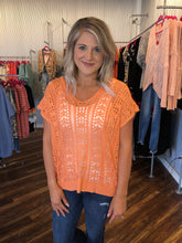 Load image into Gallery viewer, Peach Sweater With Lace Up Back