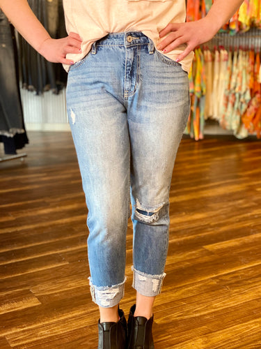 Light Wash High Rise Boyfriend KanCan Jeans
