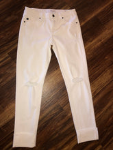 Load image into Gallery viewer, White Mid Rise Skinny KanCan Jeans