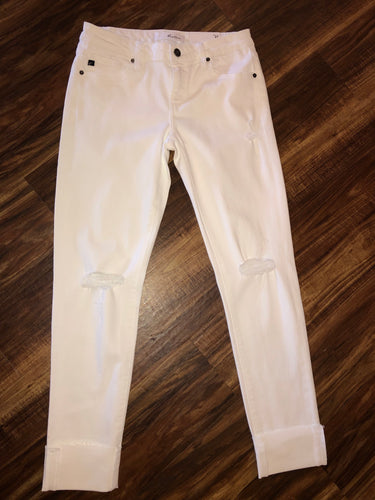 White Mid Rise Skinny KanCan Jeans - Size 5