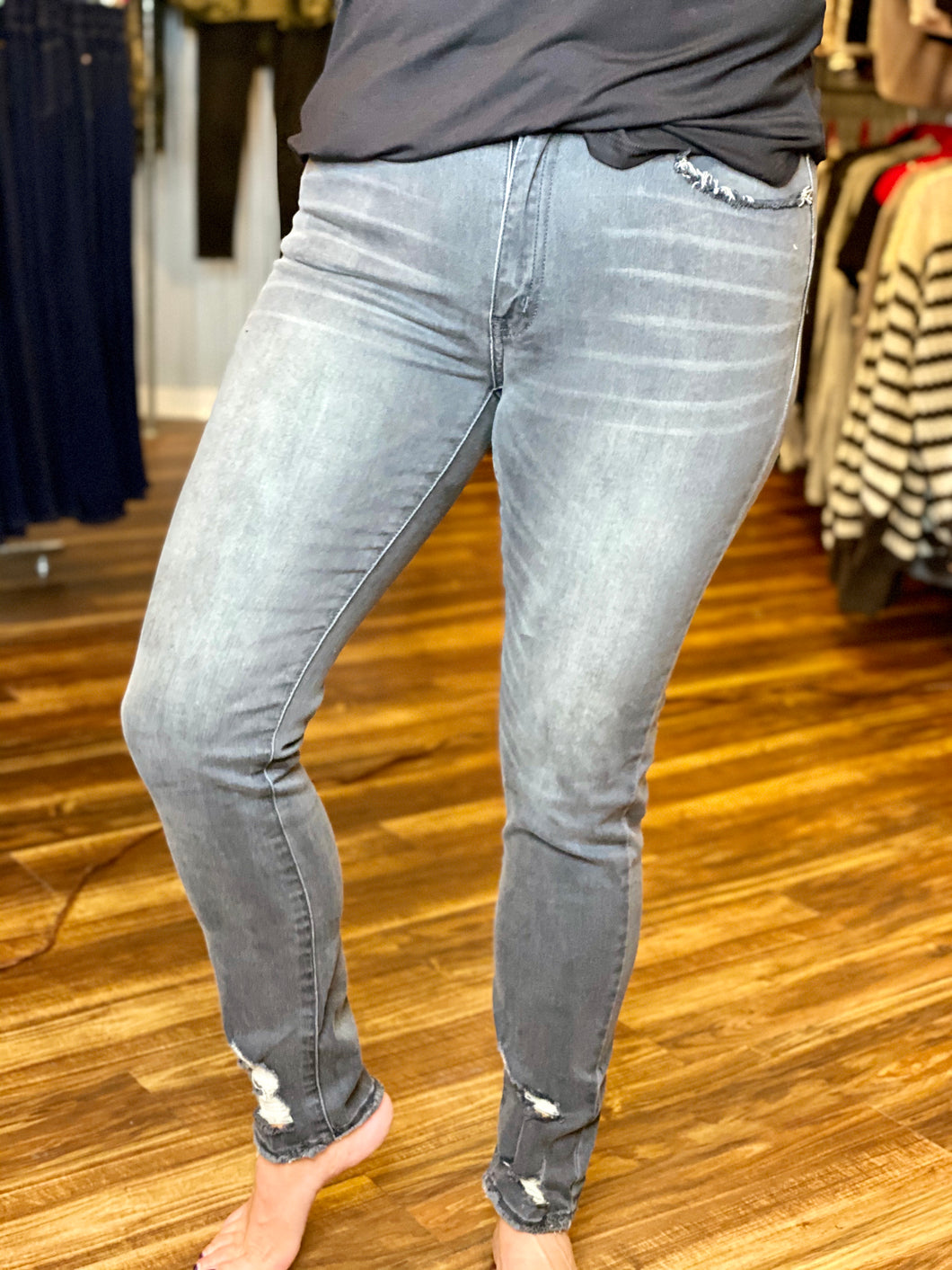 Charcoal High Rise Skinny KanCan Jeans