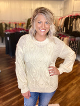 Load image into Gallery viewer, Cream Pom Pom Sweater