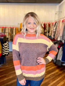 Multi Color Stripe Sweater