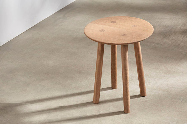 OVO Stool Low - Oak Whitened Oil