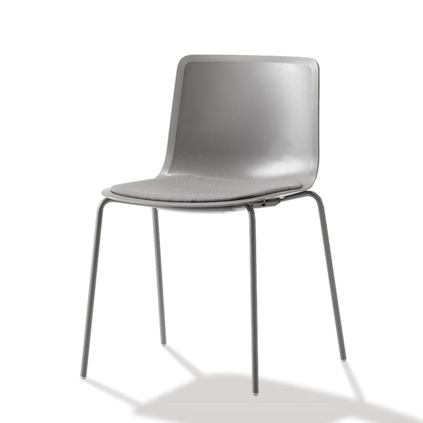 Pato Chair - 4-Leg, Seat Upholstered - Stackable