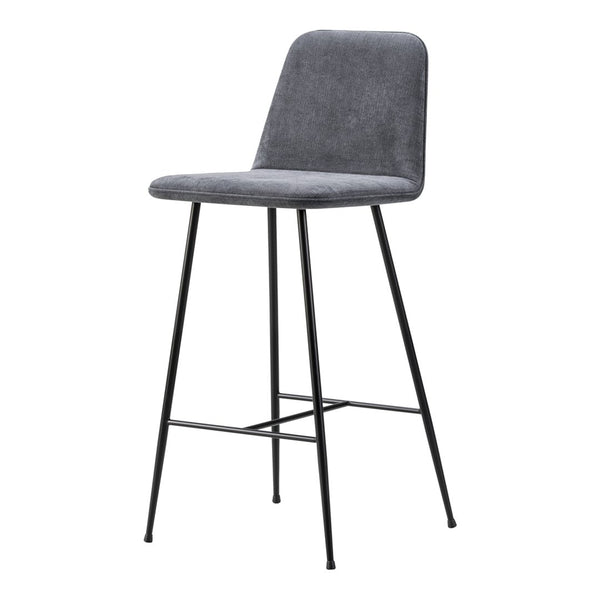 Spine Bar/Counter Stool (w/ Back) - Metal Base