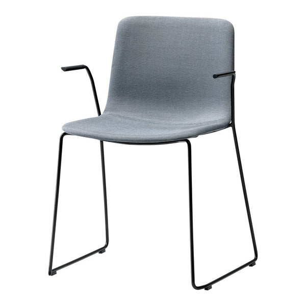 Pato Armchair - Sledge Base, Fully Upholstered - Stackable