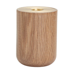 Oak Nordic Candle Holder