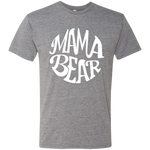 Mama Bear White Script Triblend T-Shirt