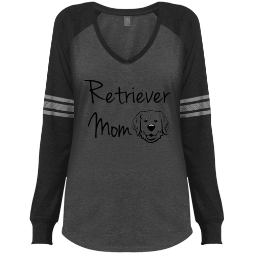 Doodle Mom Ladies' Game LS V-Neck T-Shirt