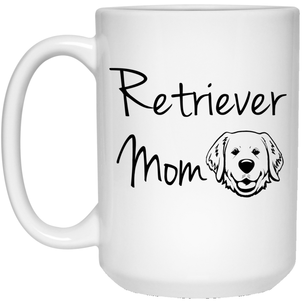 Retriever Mom 15 oz. White Mug