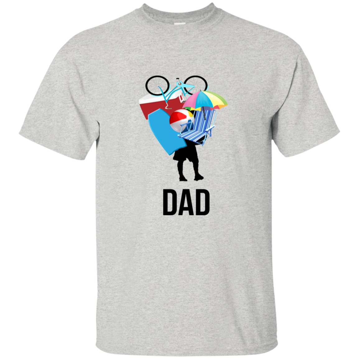 Dad Carrying Stuff Father's Day Cotton T-Shirt