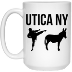 Utica NY Kicks Ass 15 oz. White Mug