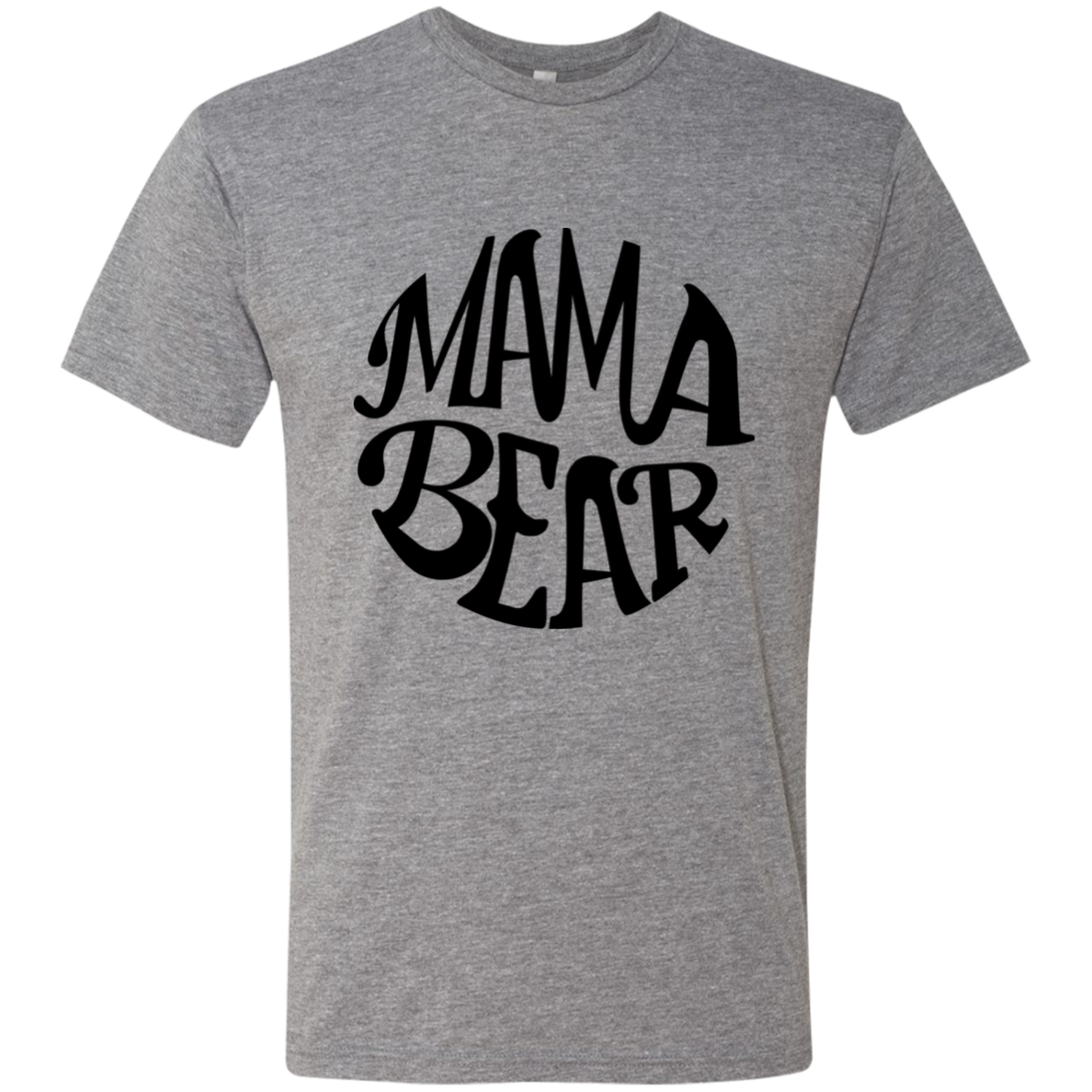 Mama Bear Black Script Triblend T-Shirt