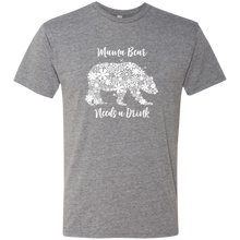 Load image into Gallery viewer, Mama Bear Needs a Drink Triblend T-Shirt