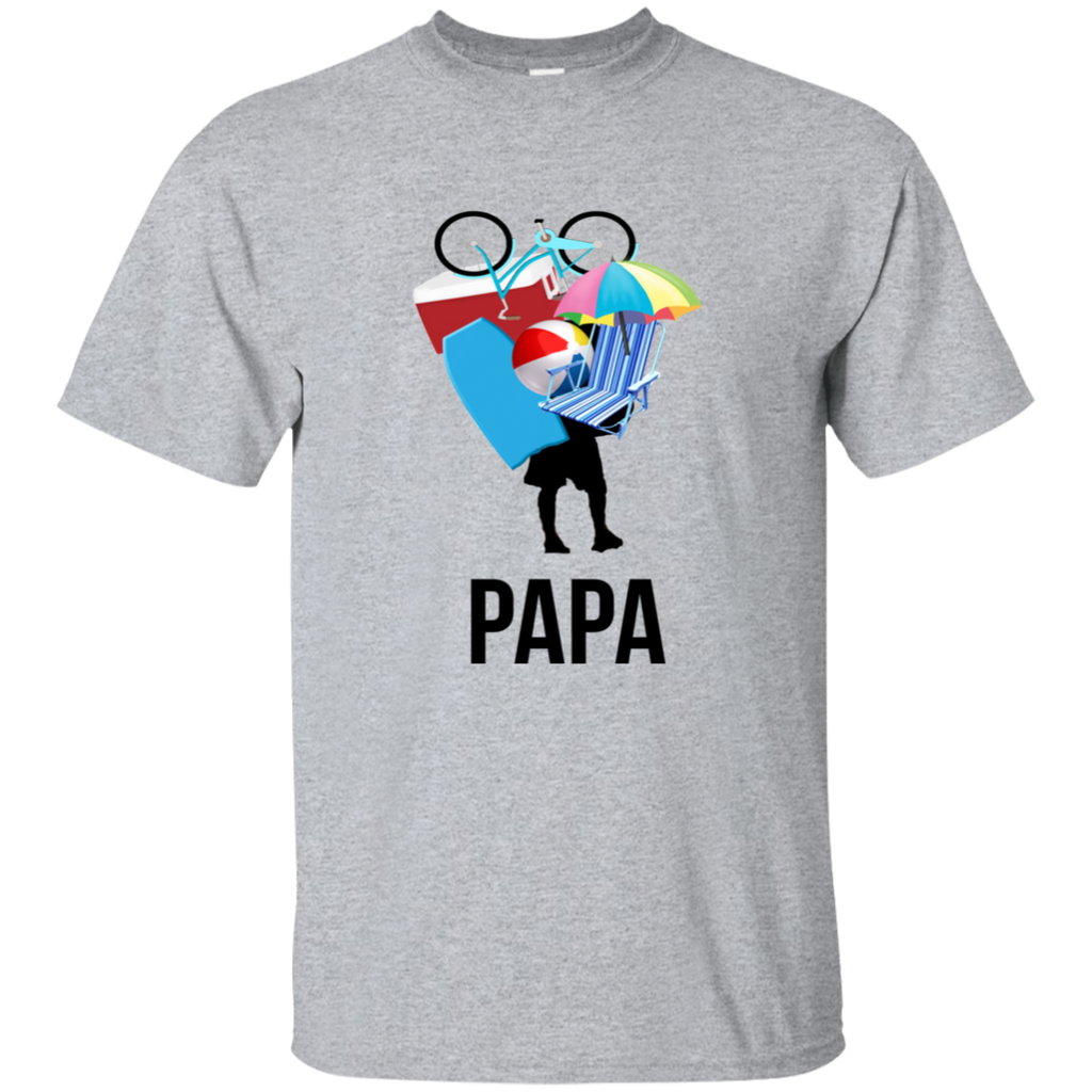 Papa Carrying Stuff Cotton T-Shirt