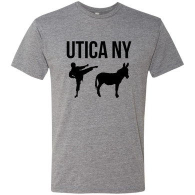 Utica NY Kicks Ass Premium Triblend T-Shirt