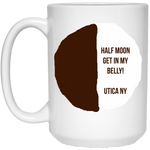 Utica Half Moon 15 oz. White Mug