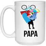 Papa Carrying Stuff 15 oz. White Mug