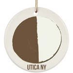Half moon Utica NY Ceramic Circle Ornament