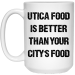 Utica Food 15 oz. White Mug