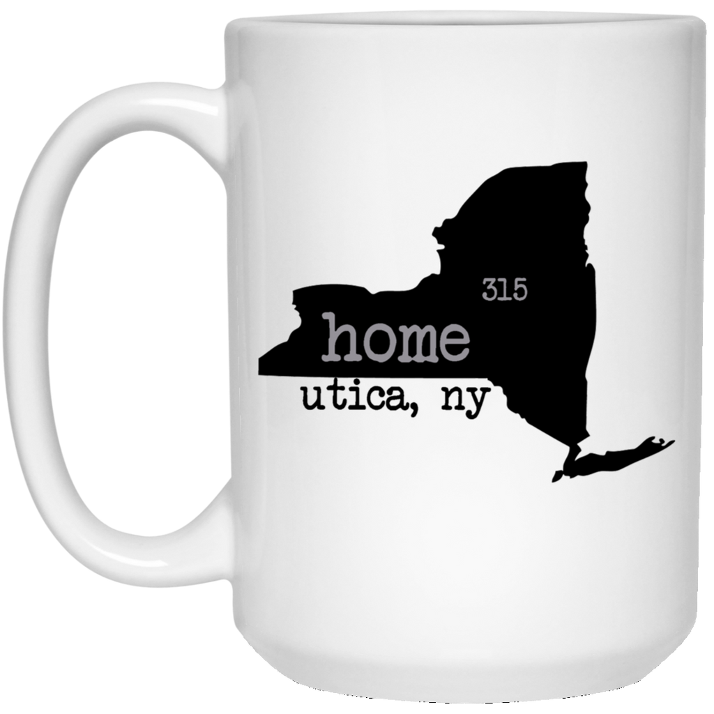 Utica Home 15 oz. White Mug