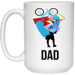 Dad Carrying Stuff 15 oz. White Mug