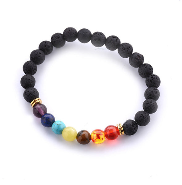 7 Chakra Healing Balance Beads Yoga Bracelet - Constantly Carving