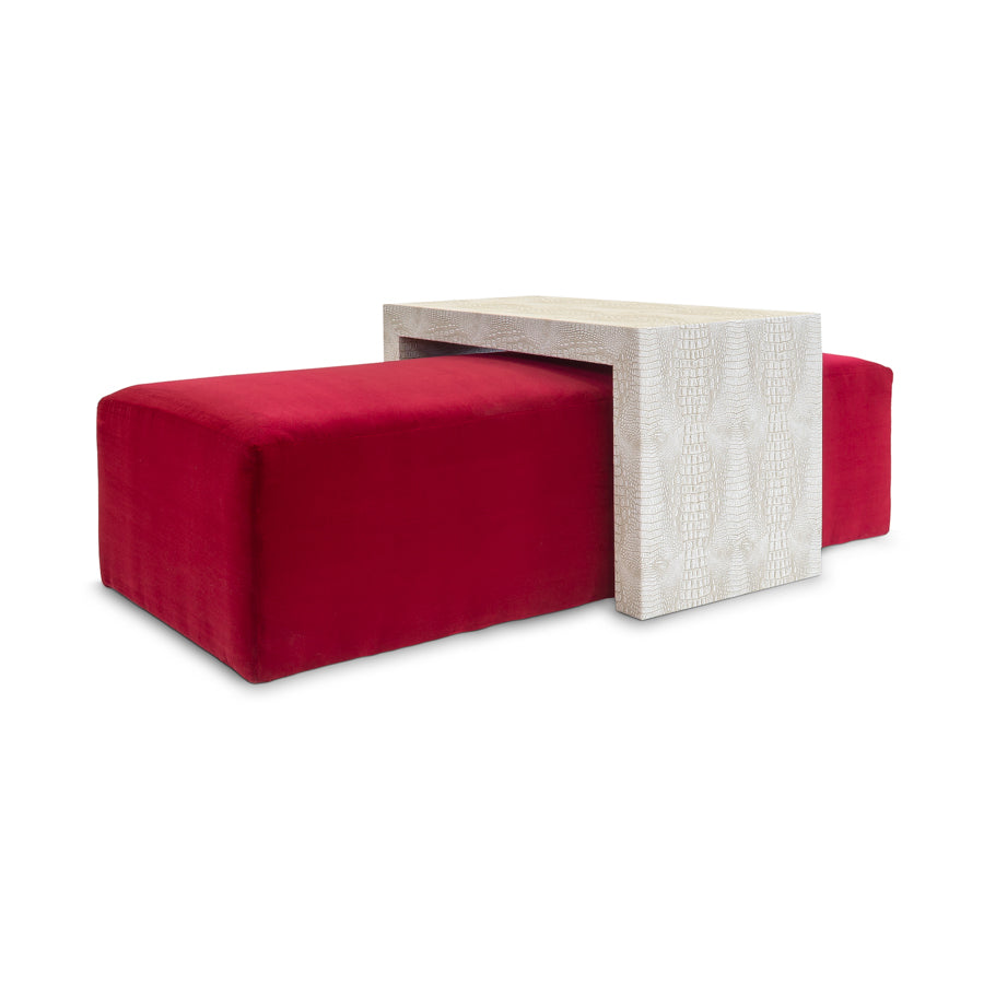 Rockport Ottoman and Table