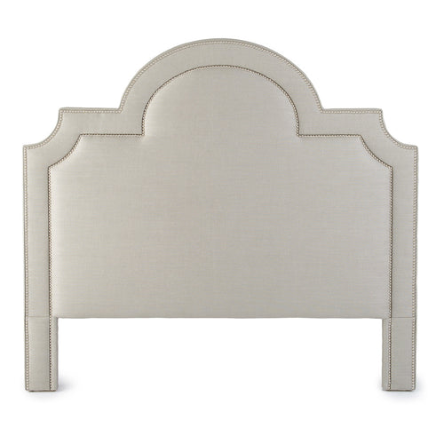 Astor Headboard Slubby Linen Taupe Houston Nail