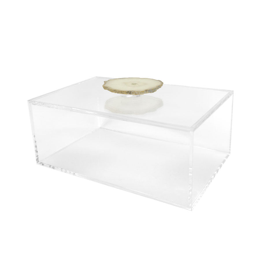 Clear Box with Agate Handle