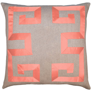 Empire Linen Coral Ribbon