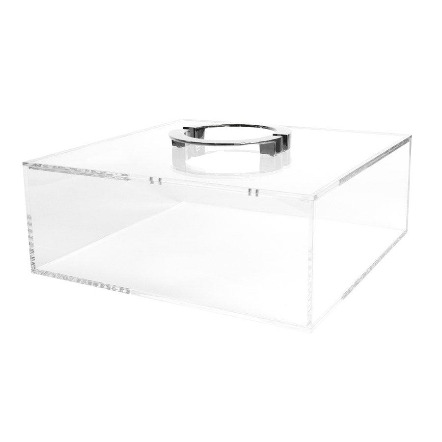 Clear Box with Chrome Circle Handles