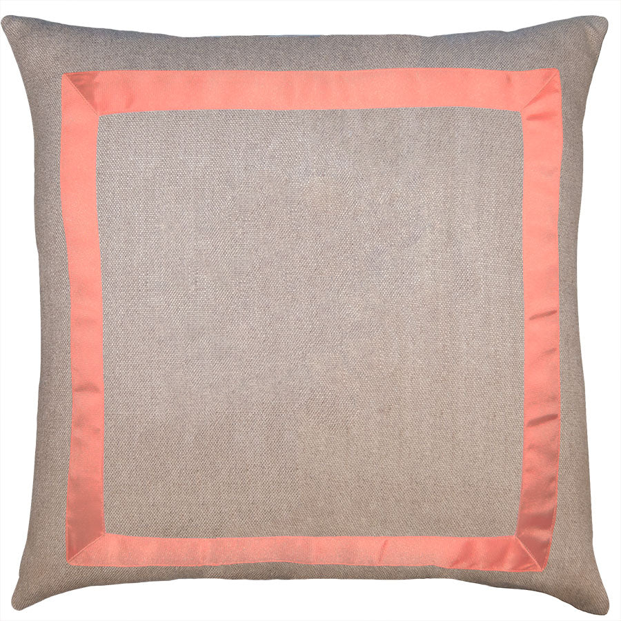 Marquess Linen Coral ribbon