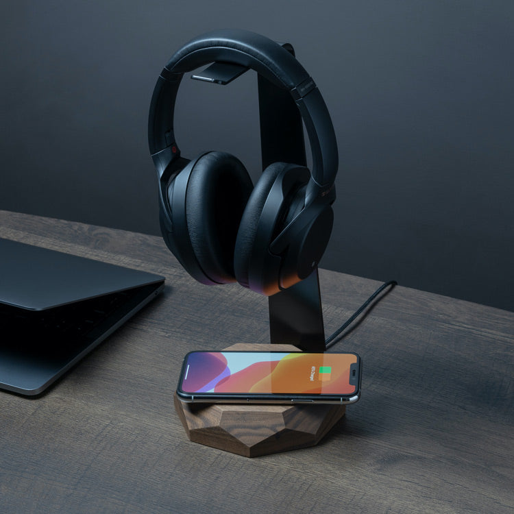 2in1 Headphones & Wireless Charger Stand